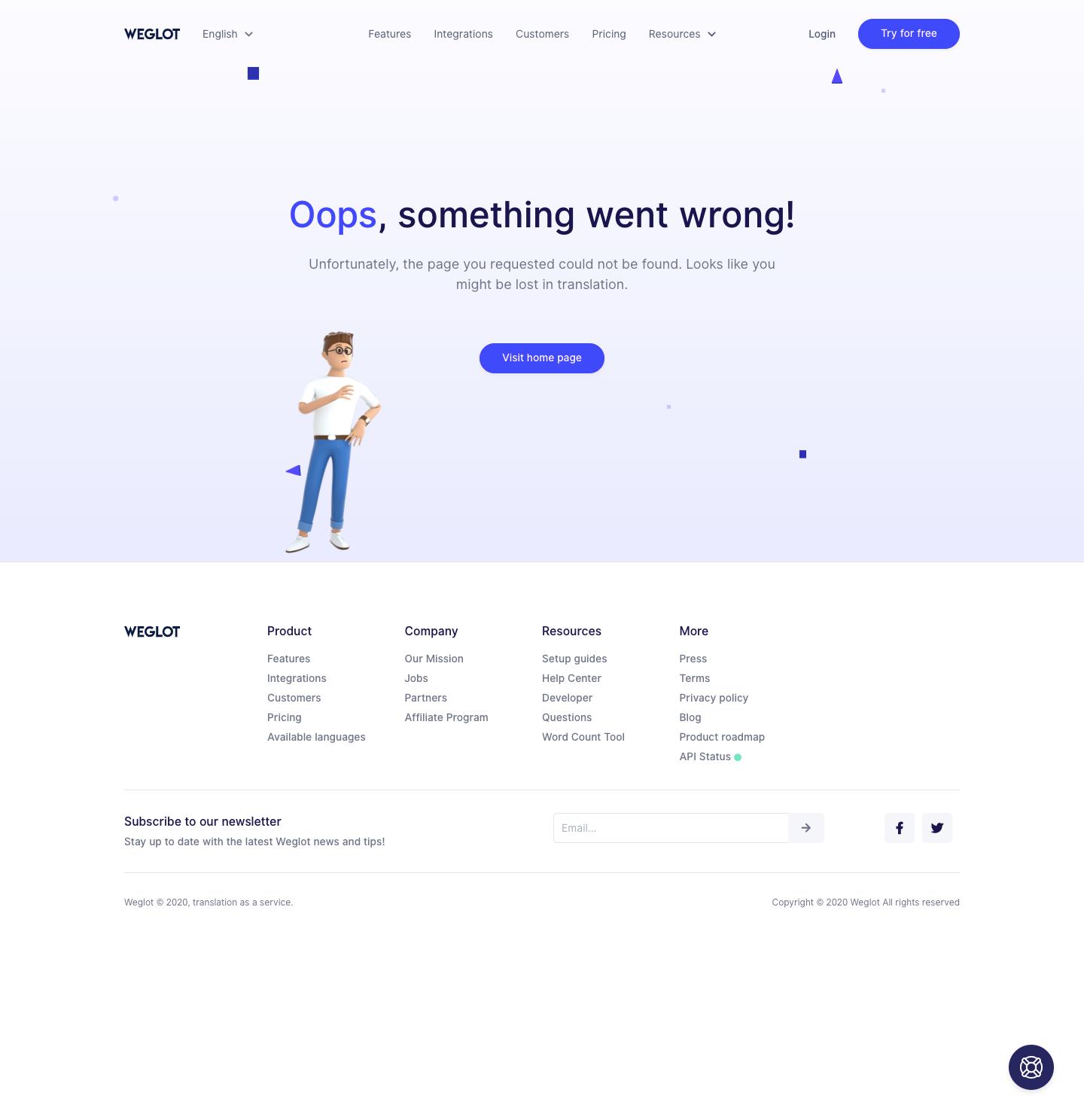 Weglot 404 Page