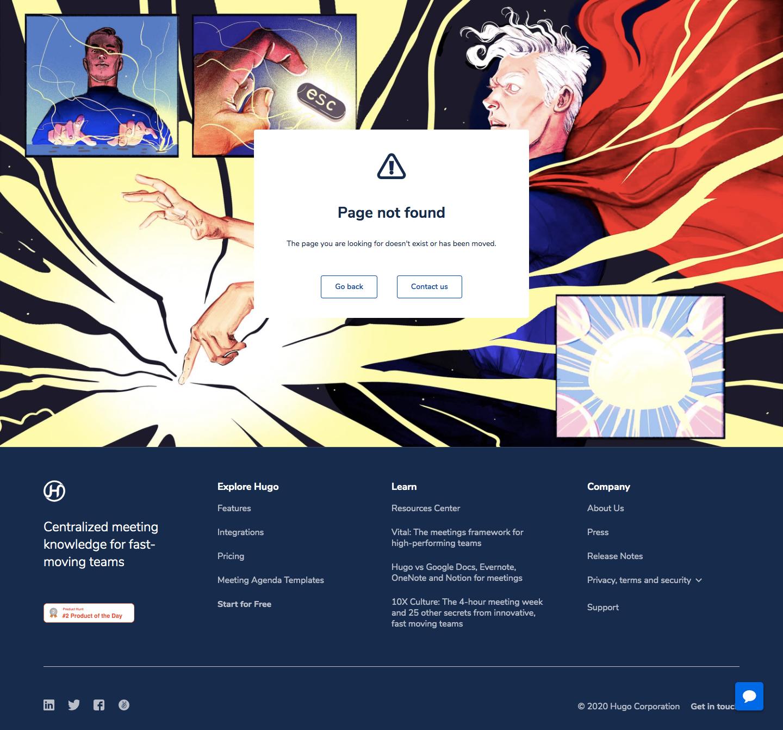 Hugo 404 Page