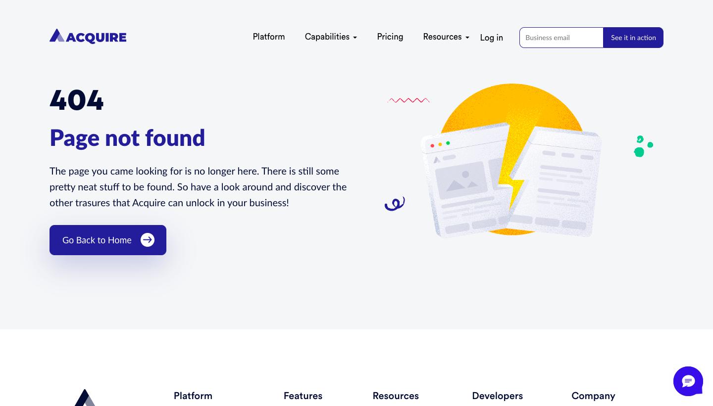 Acquire 404 Page