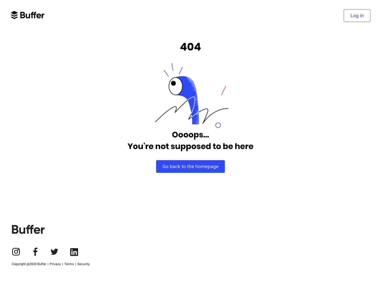 Buffer 404 Page