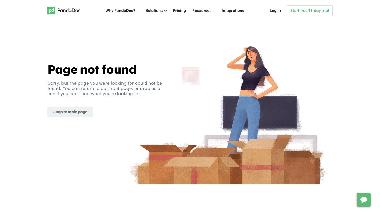 PandaDoc 404 Page