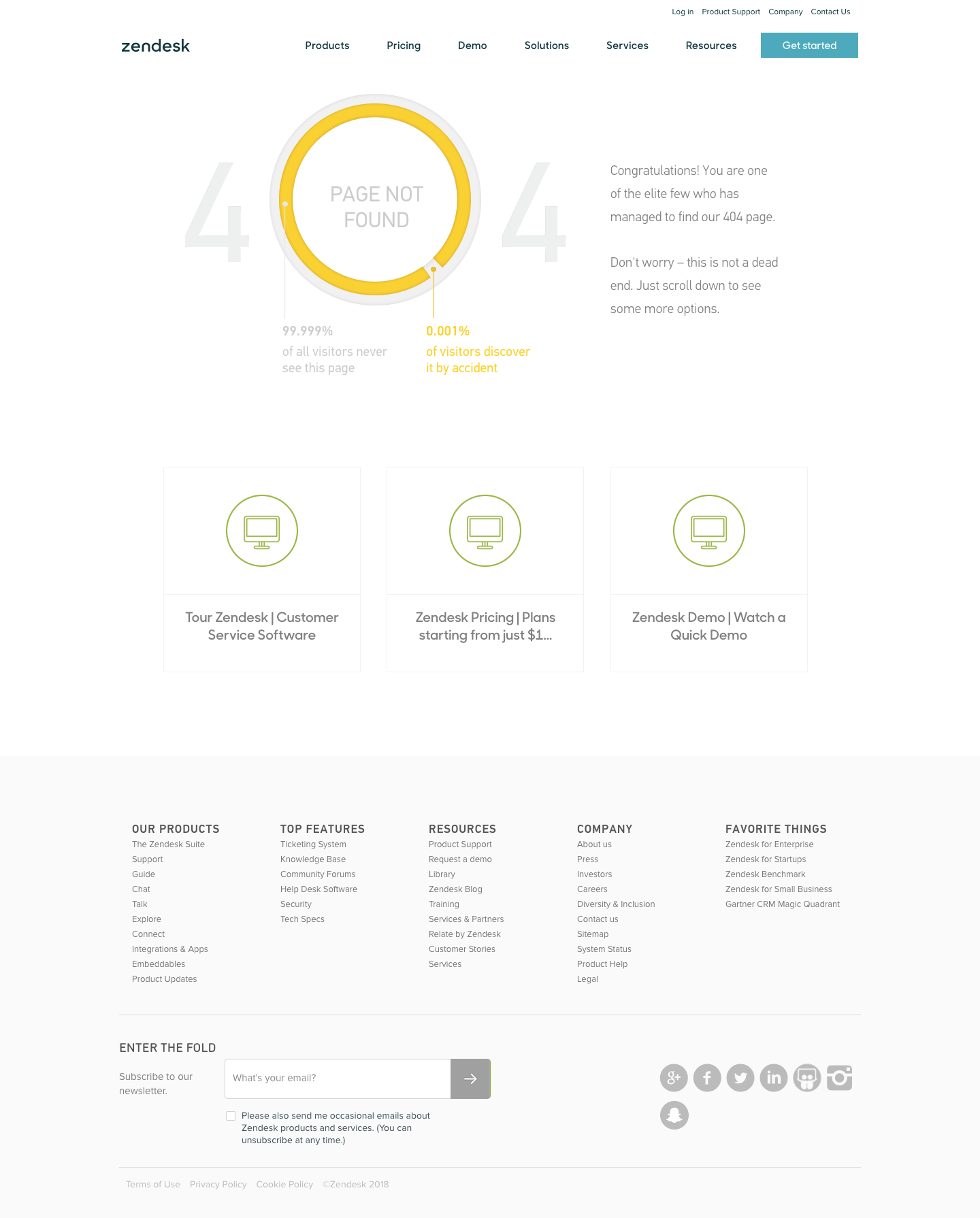 Zendesk 404 Pages