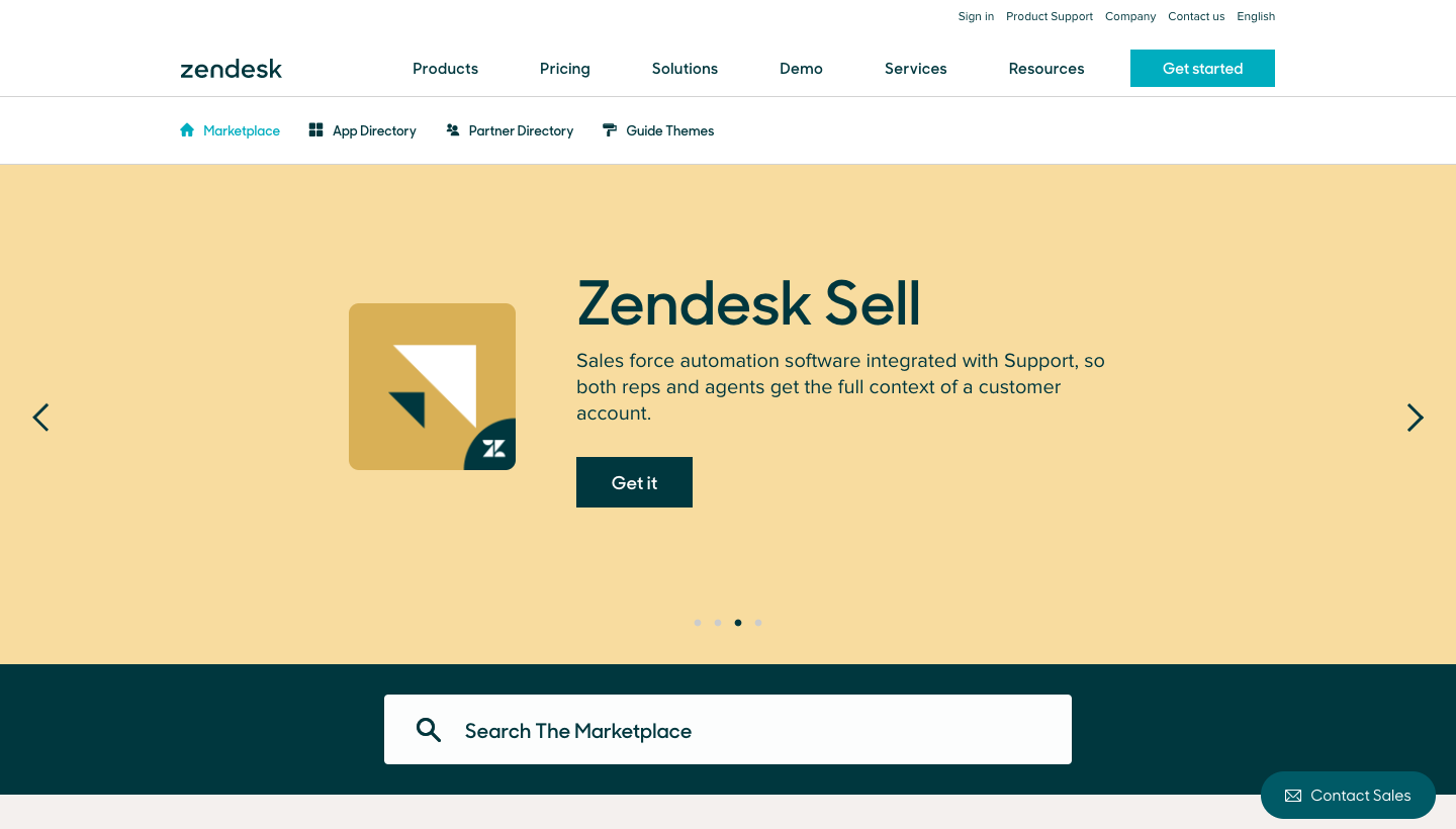Zendesk Integrations Page