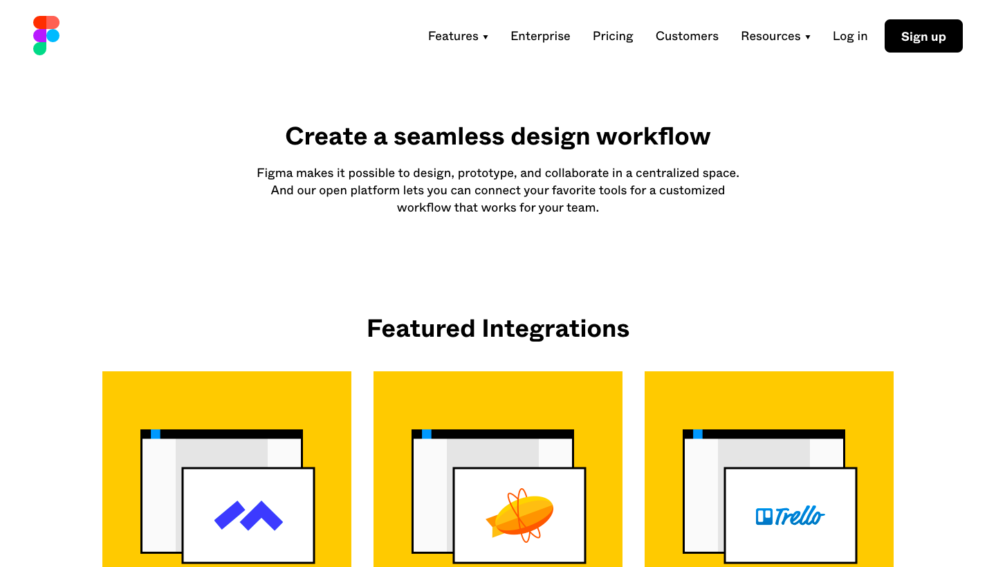 Figma Integrations Page
