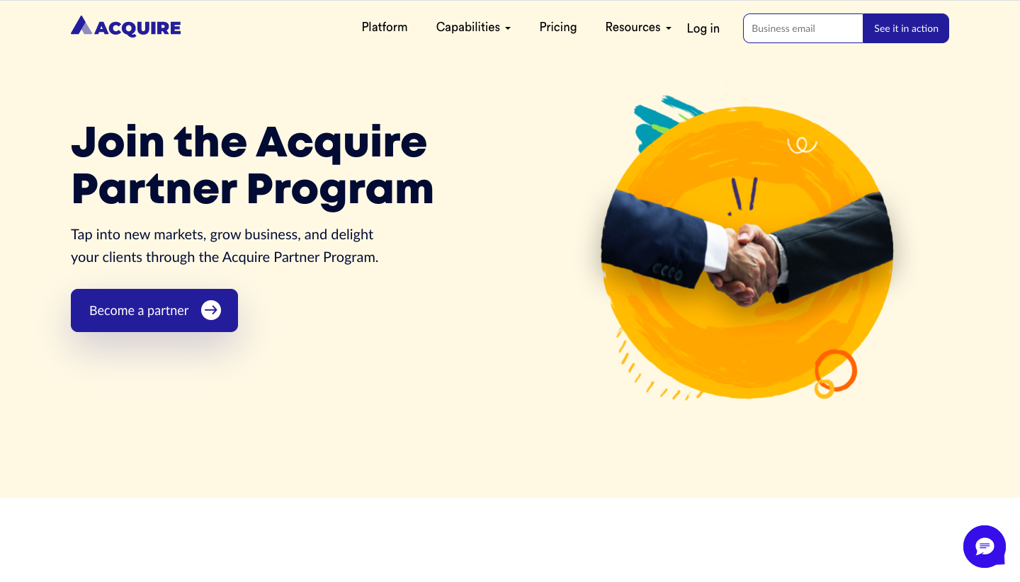 Acquire Affiliate Page