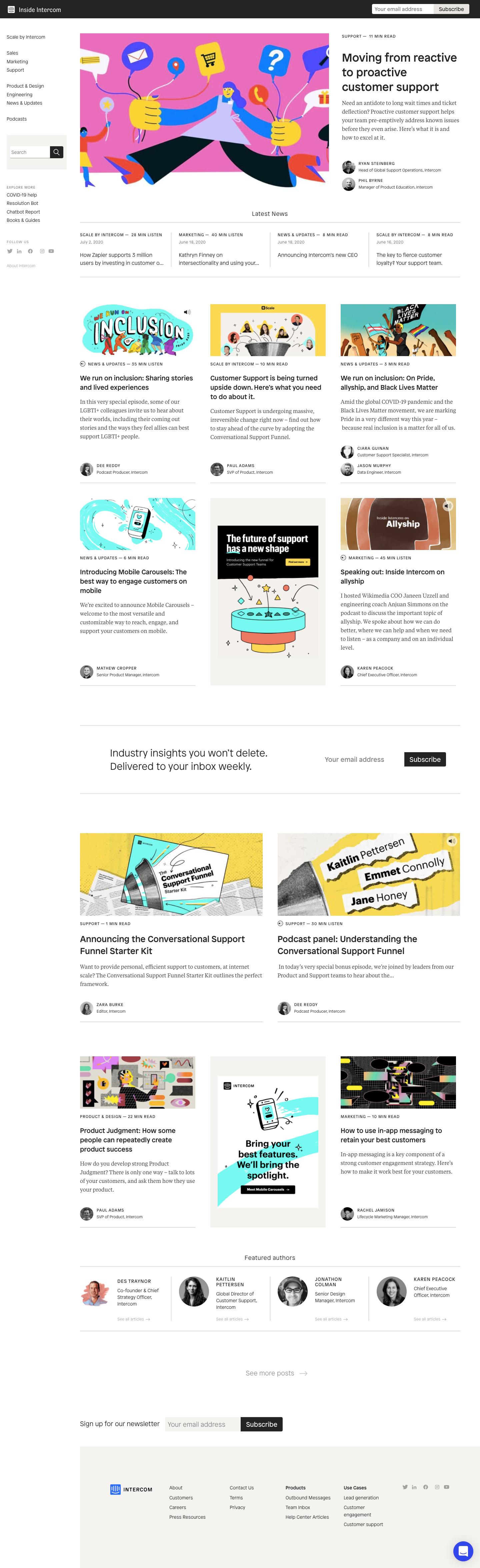 Intercom Blog Feed