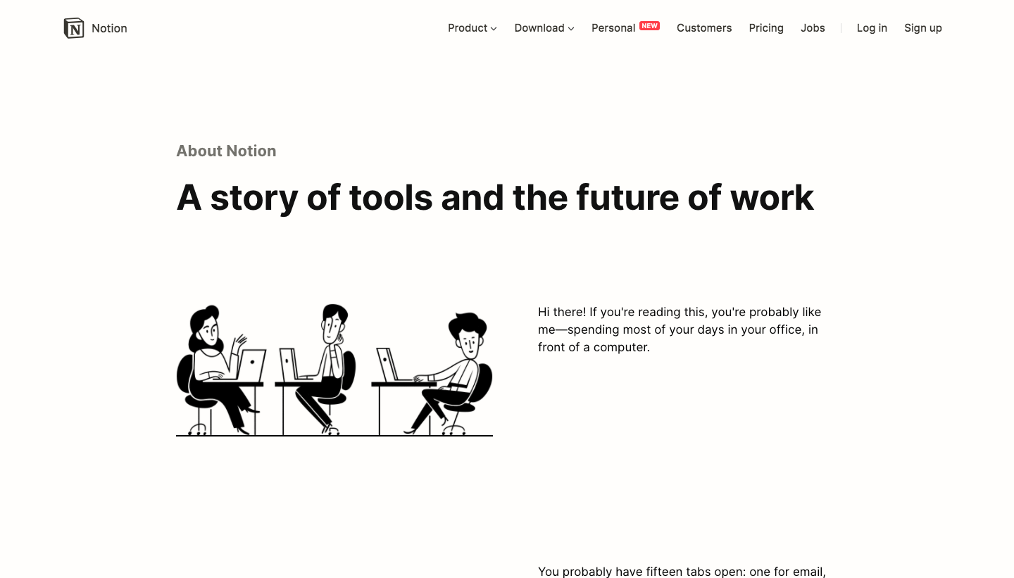 Notion About Page