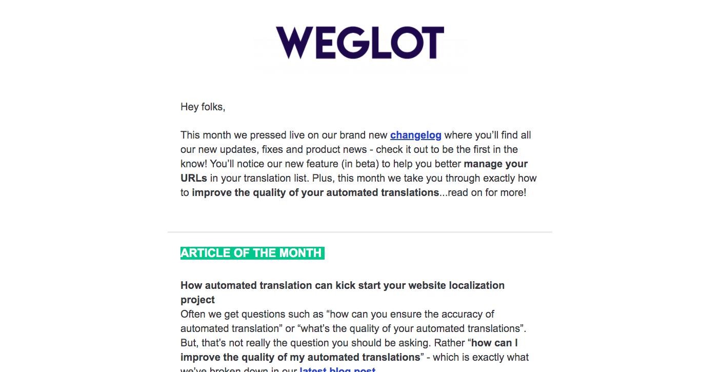 Weglot Newsletters