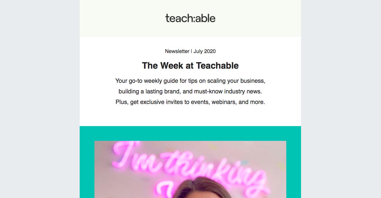 Teachable Newsletters