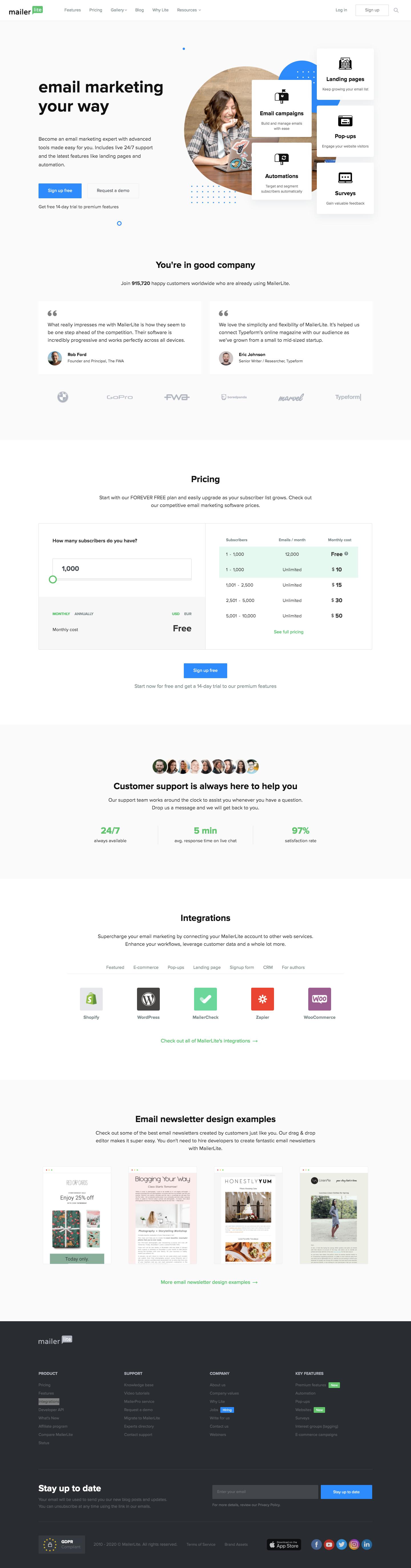 MailerLite Landing Page
