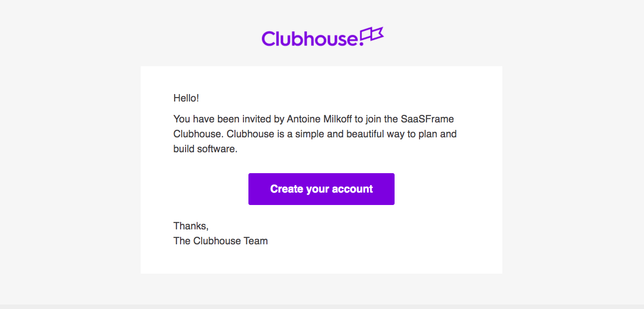 Clubhouse Invitation Emails