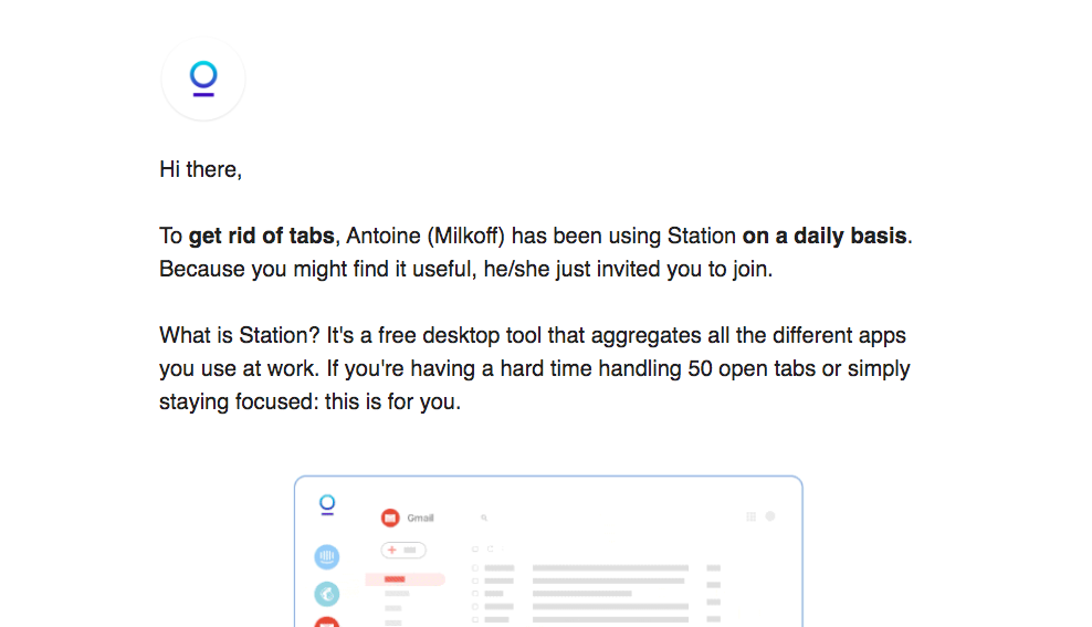Station Invitation Emails