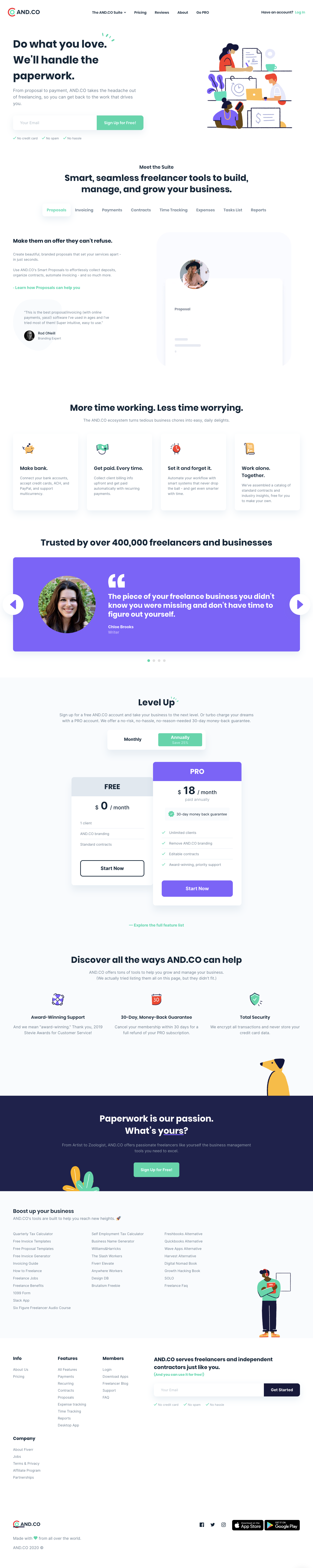 AND.CO Landing Page