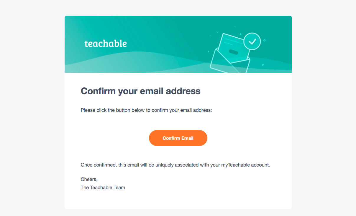 Teachable Account Verification Email