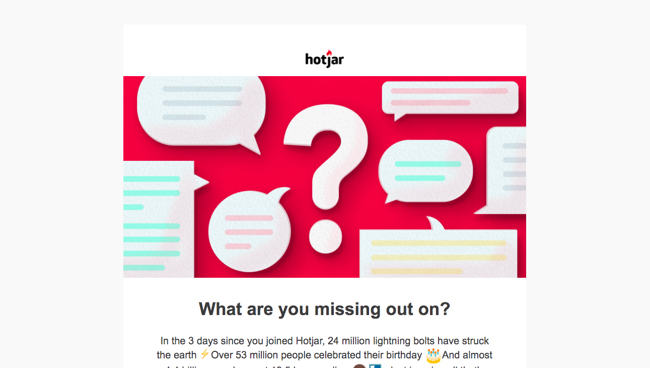 Hotjar Activation Emails