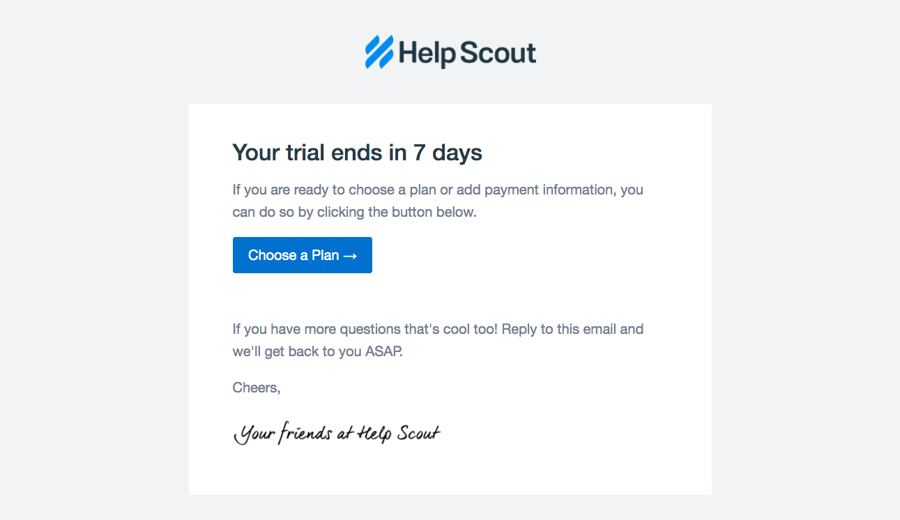 Help Scout Free Trial Emails