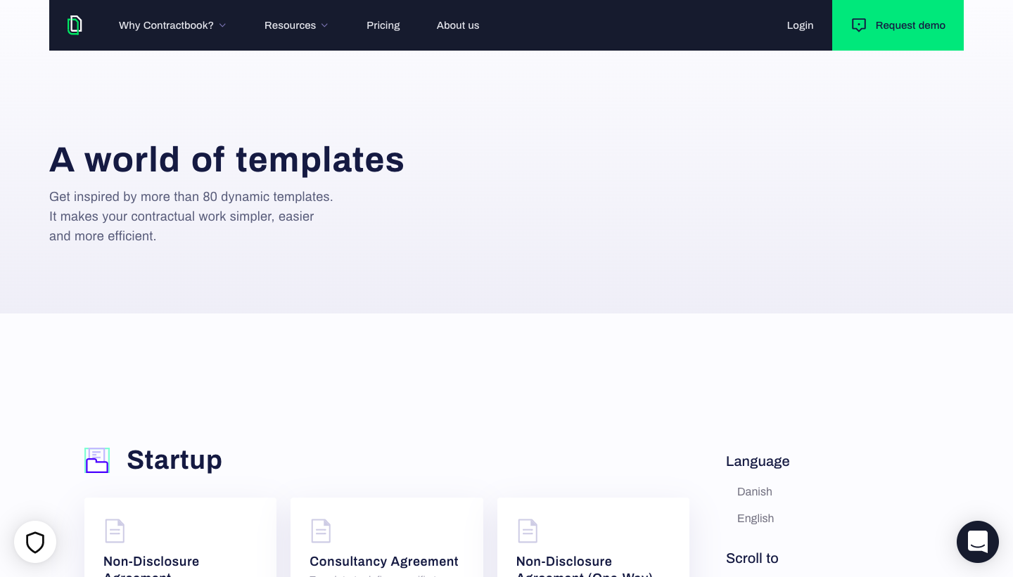 Contractbook Templates Library