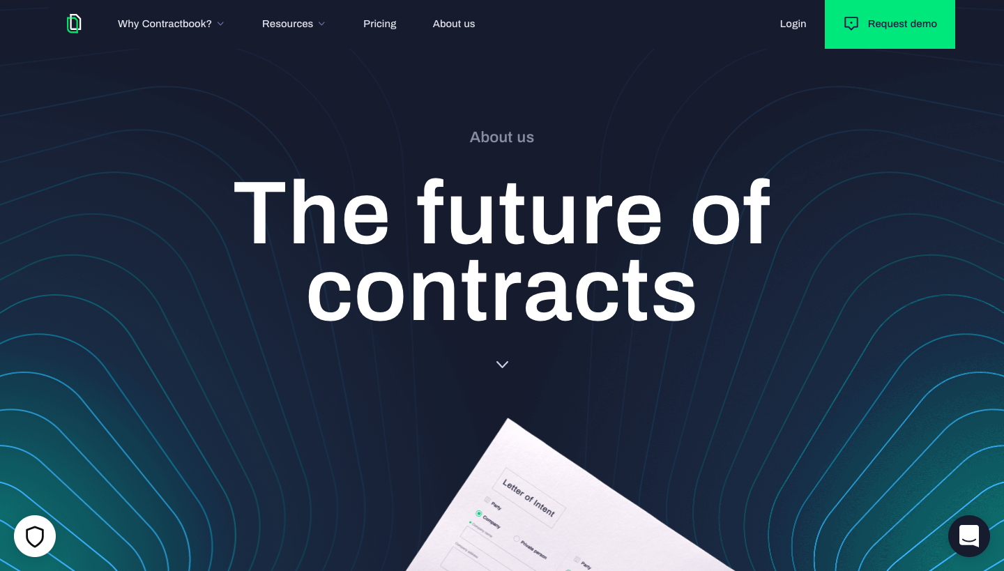 Contractbook About Page