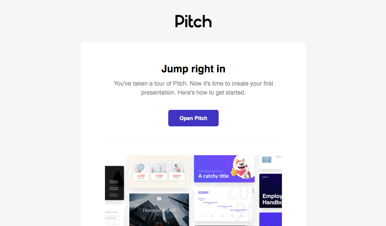 Pitch Onboarding Email Flow