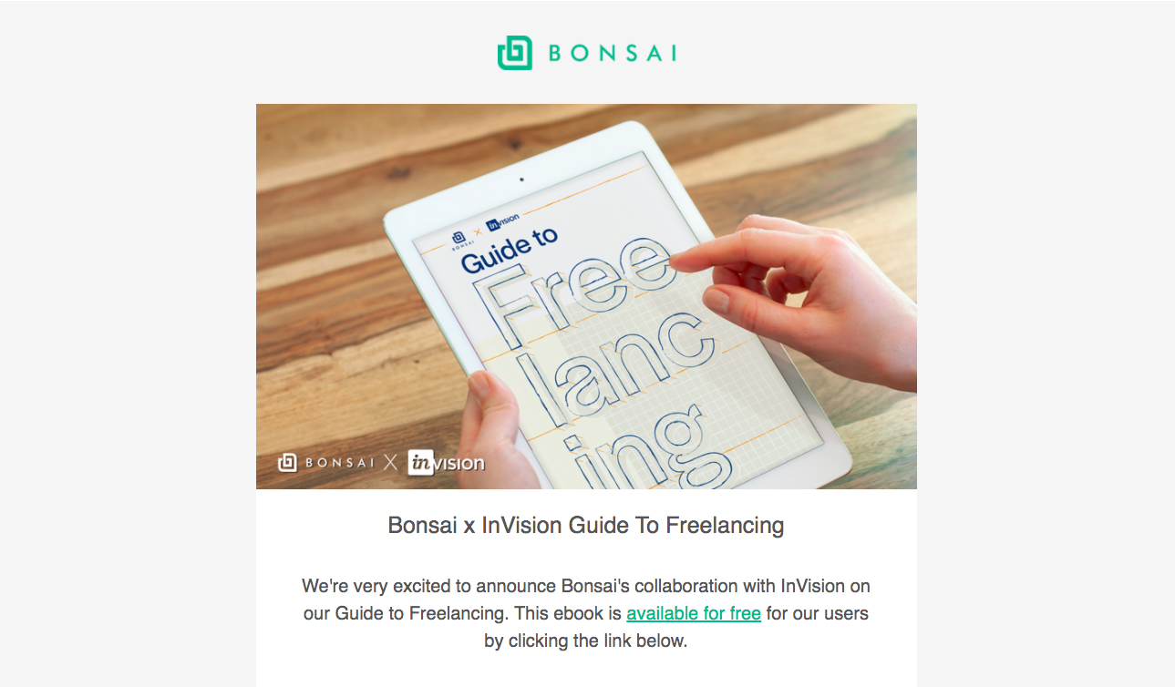 Bonsai eBook Email