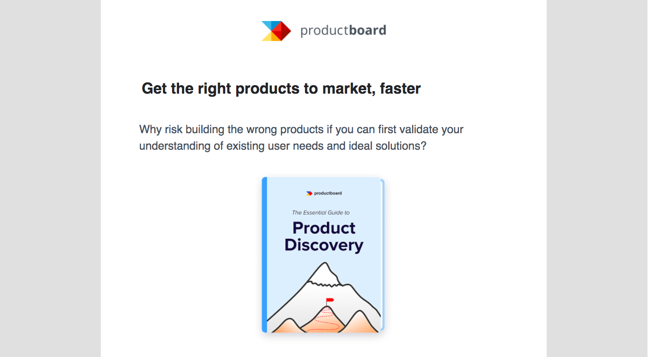 ProductBoard eBook Email