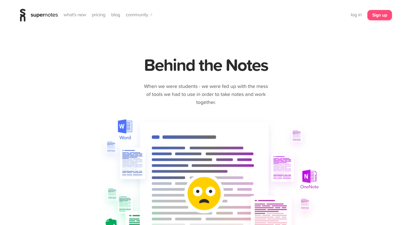 Supernotes About Page