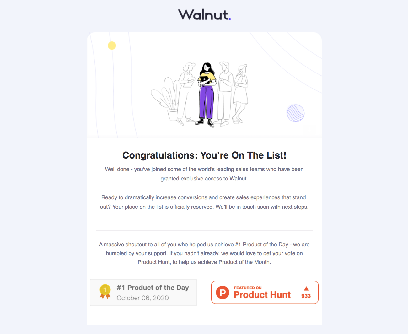 Walnut Early Access Email