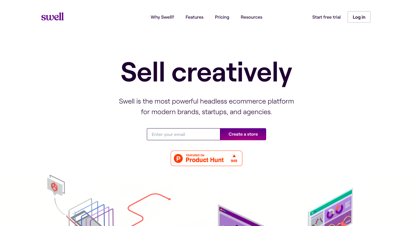 Swell Landing Page