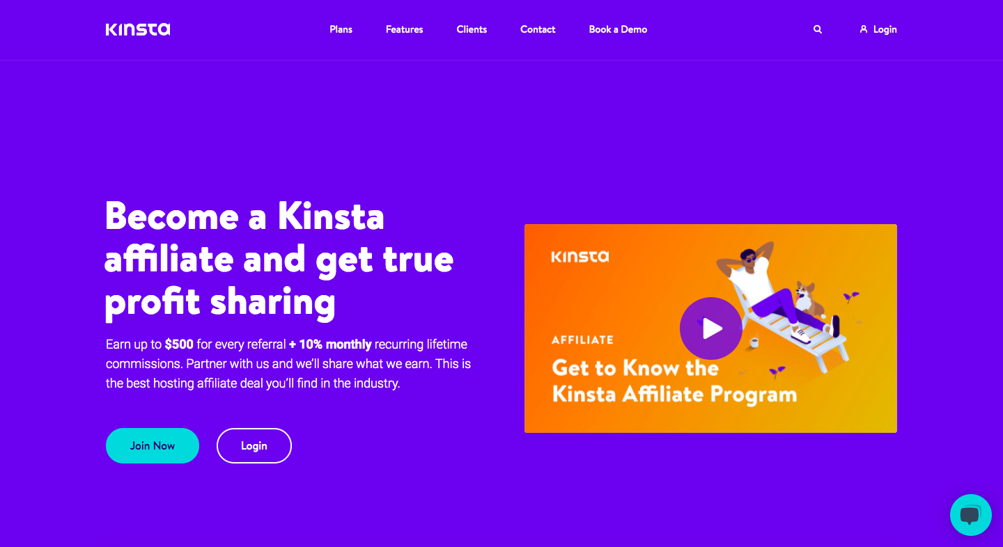 Kinsta Affiliate Page