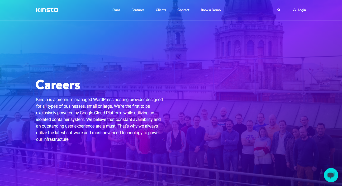 Kinsta Careers Page