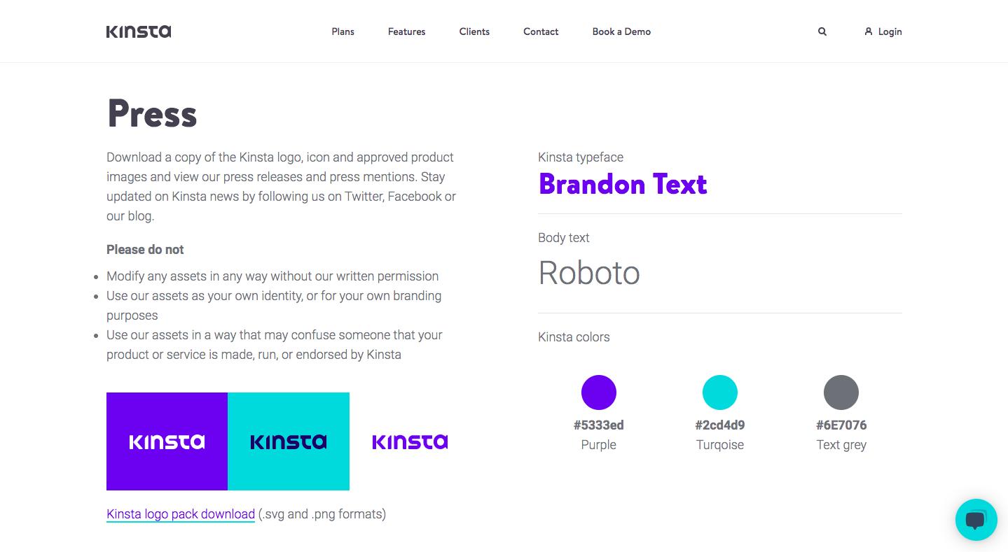 Kinsta Press Page
