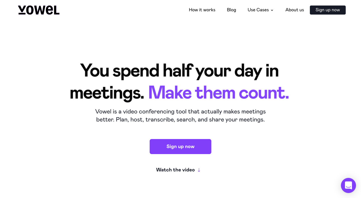 Vowel Landing Page