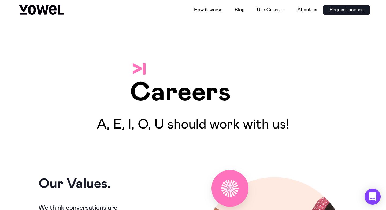 Vowel Careers Page