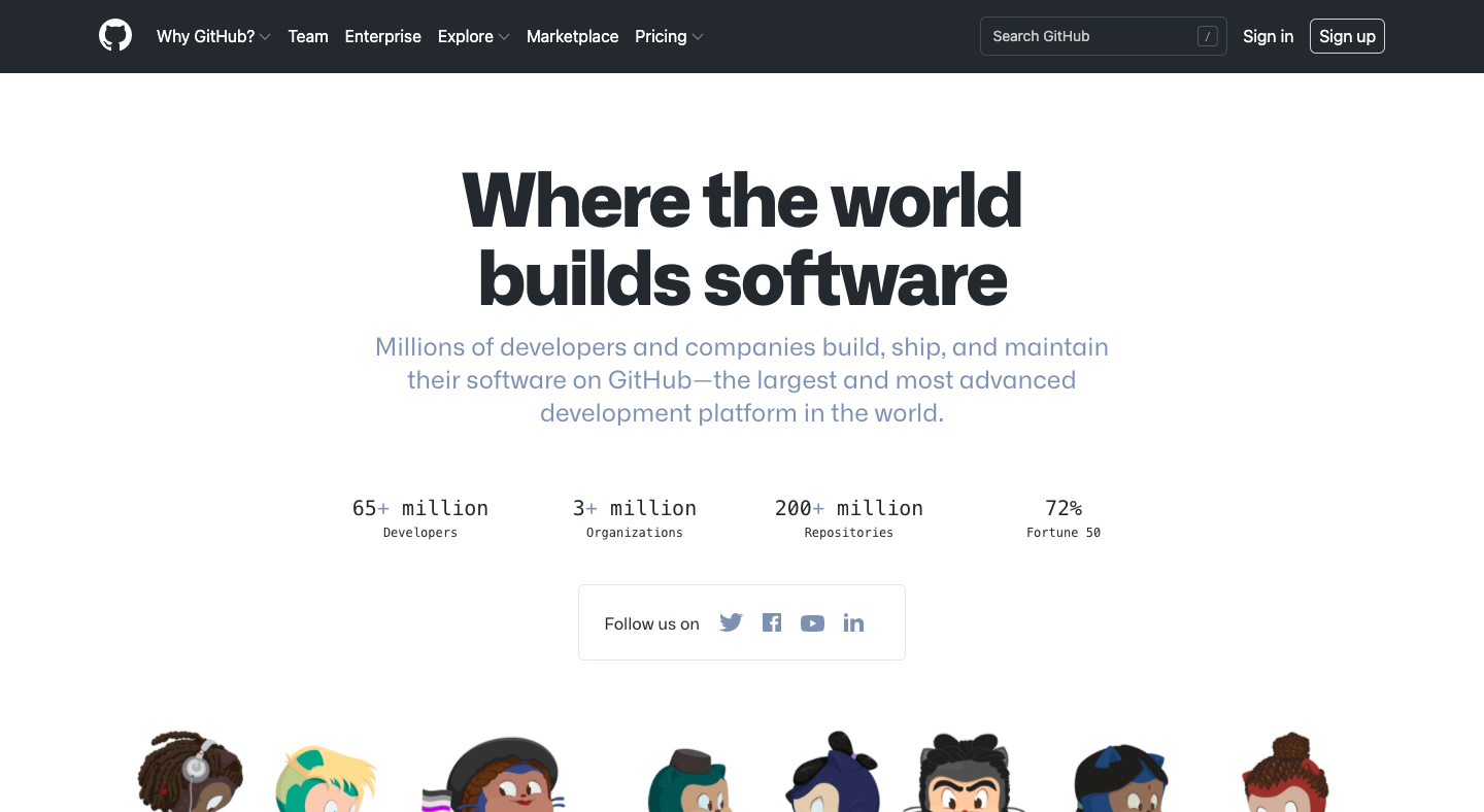 GitHub About Page