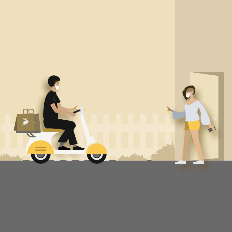 Servicio motorizado de delivery de productos al hogar del cliente