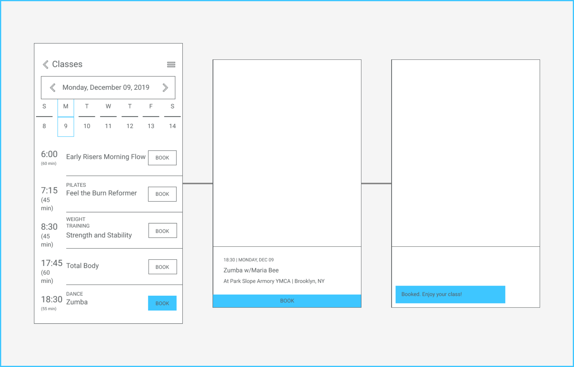 Classes Wireframes