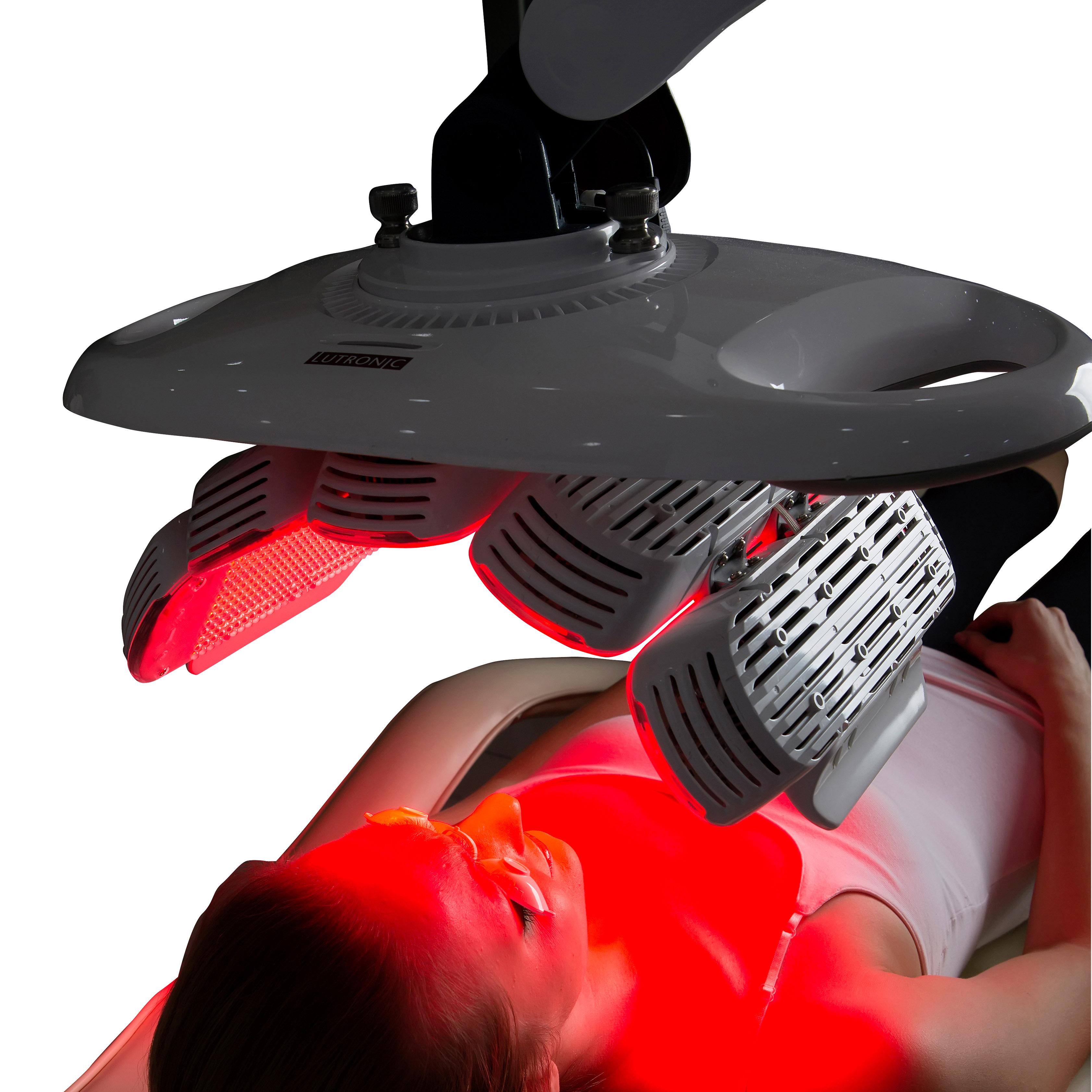 PDT: microneedling, cream application, LED light