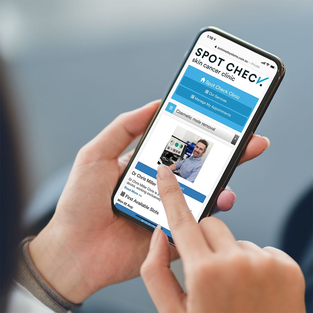 Booking an appointment using a mobile phone