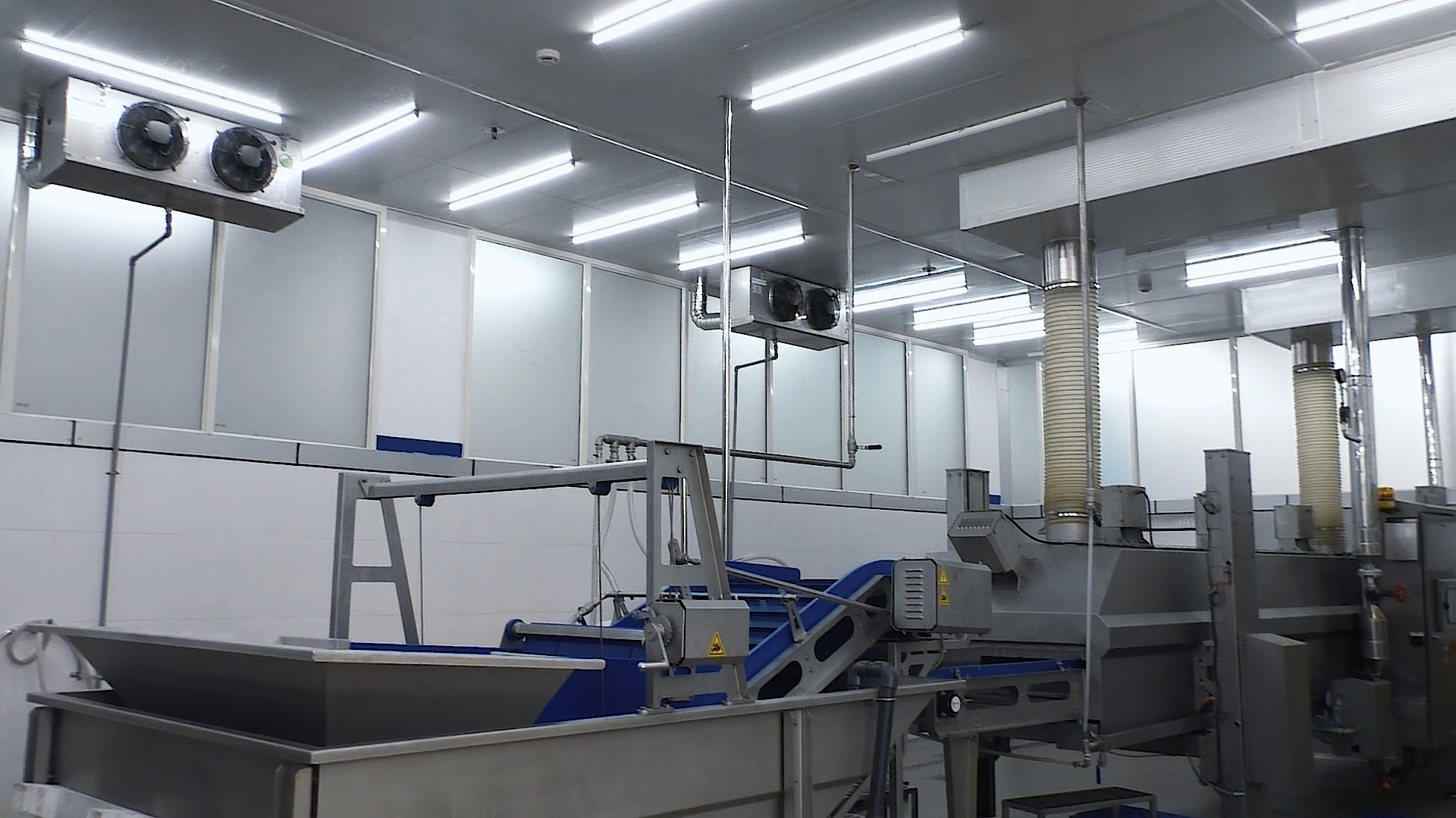 sea food processing room