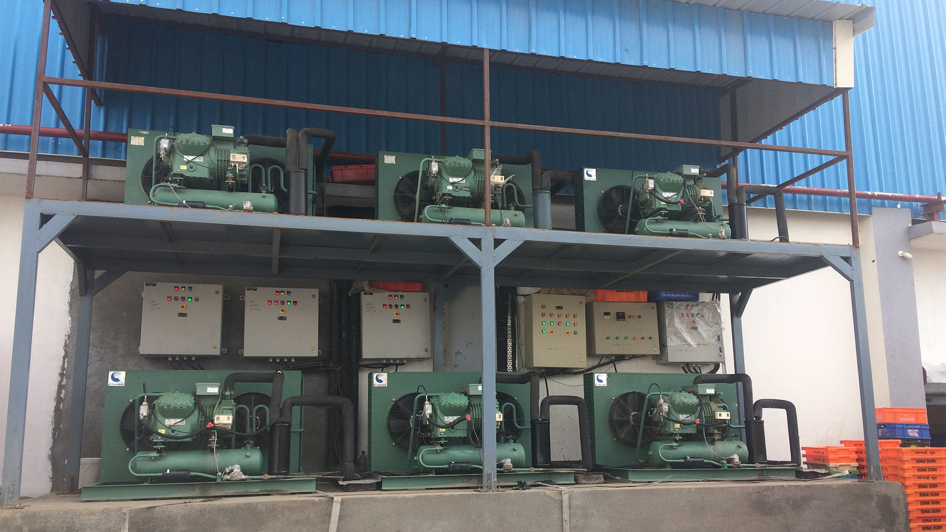 condensing unit for dairy cold room