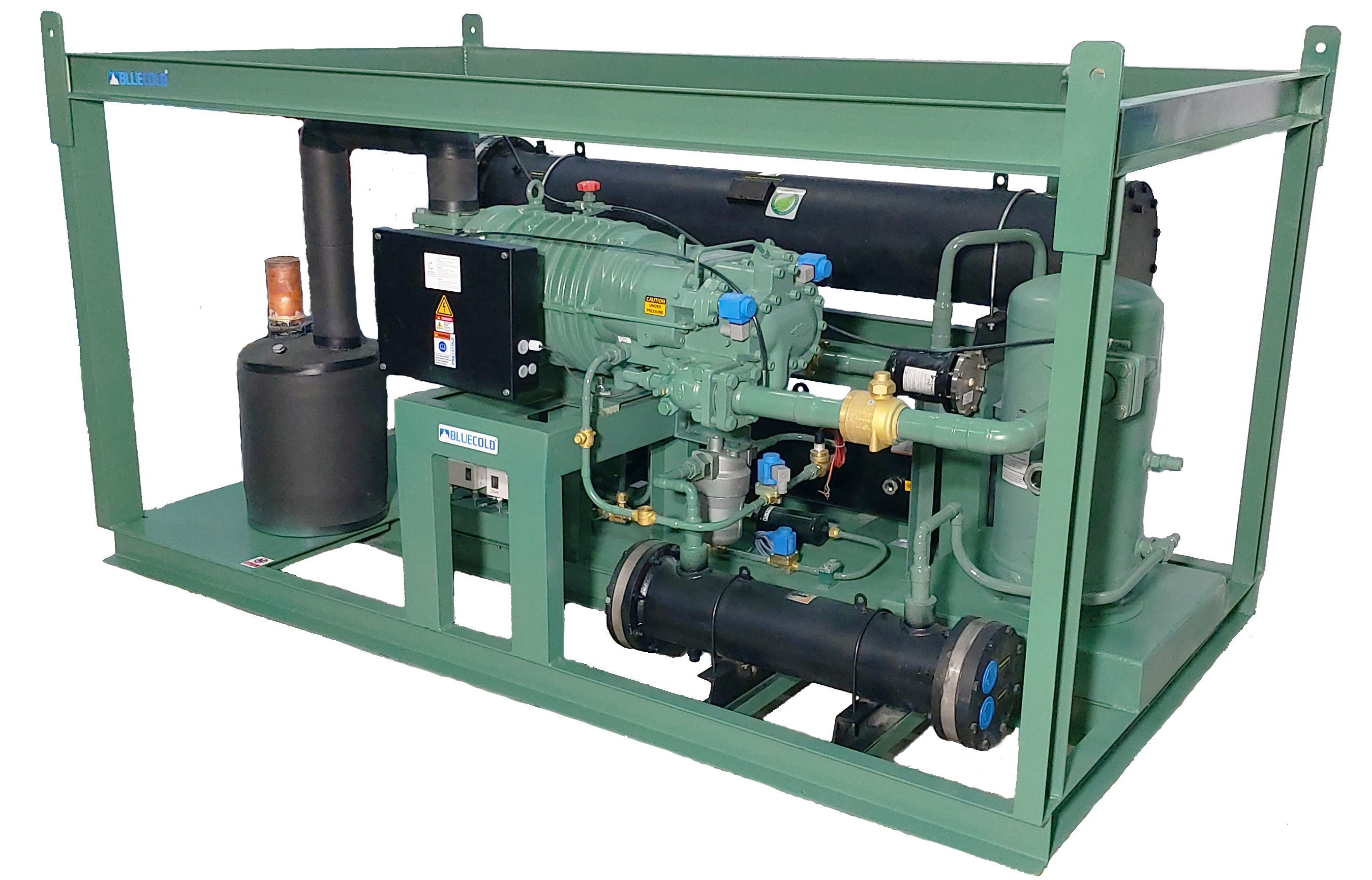 Screw Refrigeration System for sea food and meat blast freezing and cold storage