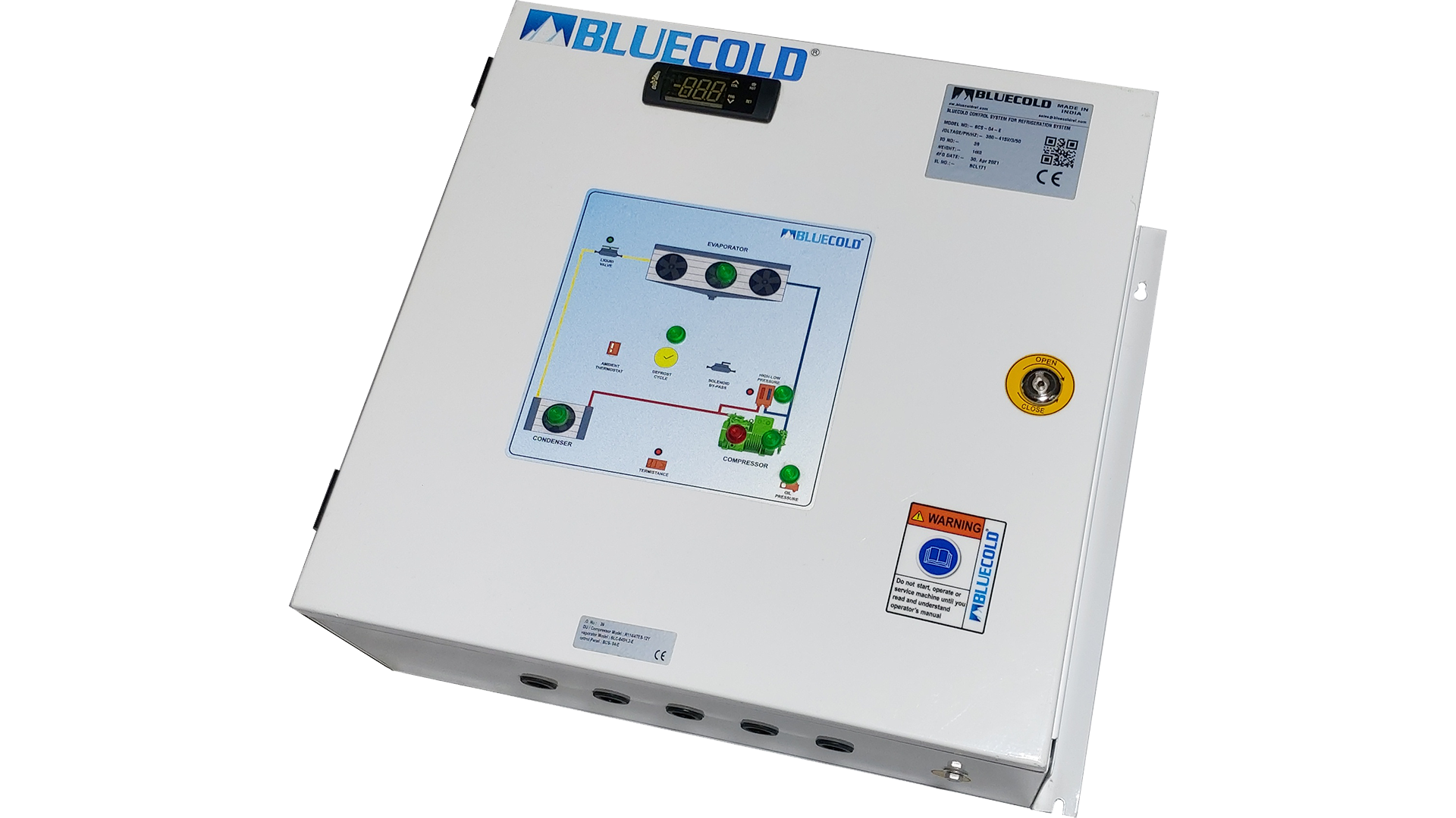 Control panel for Bitzer Condensing unit