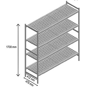 4 shelves racks