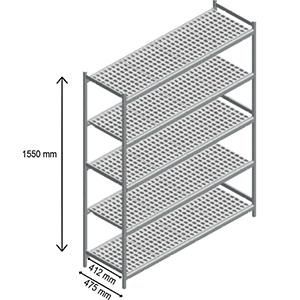 5 shelves rack