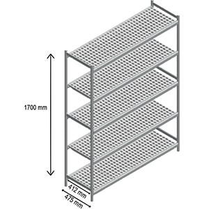 5 shelves racks