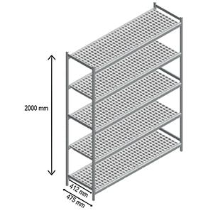 5 shelves storage rack