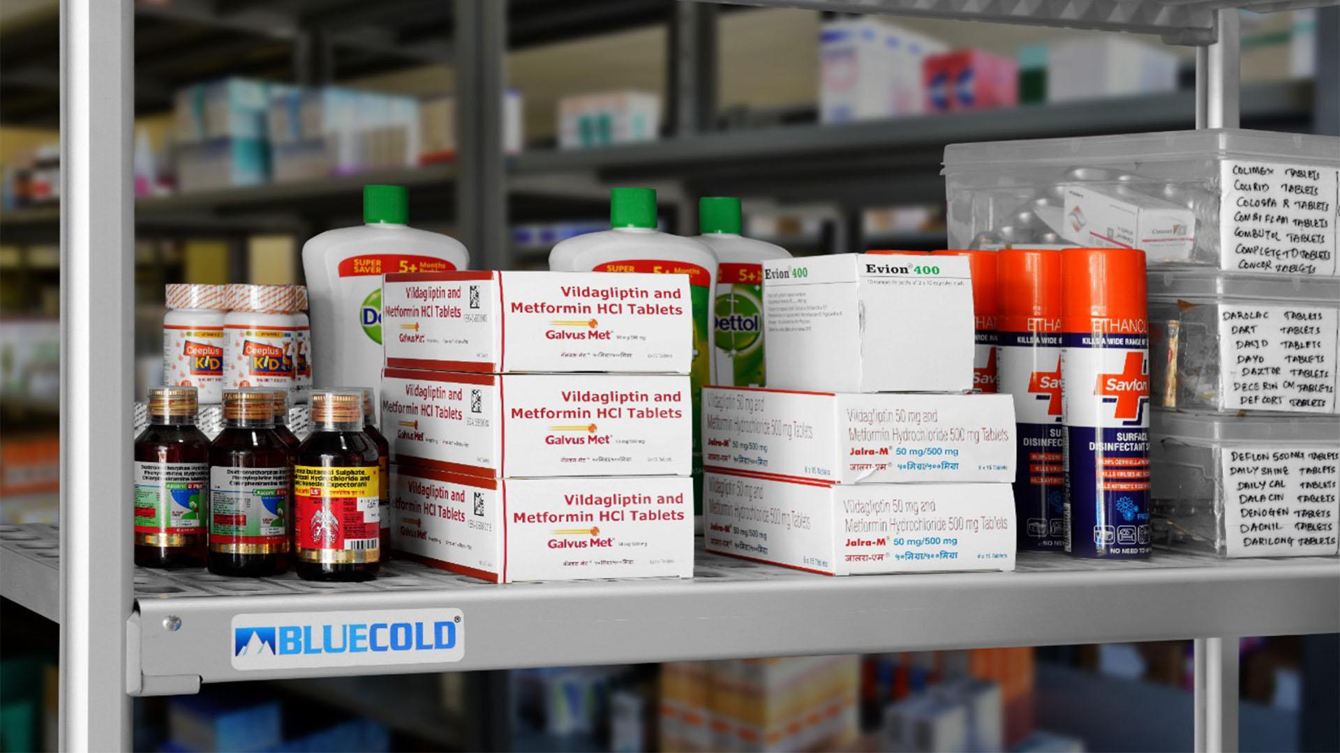 racks for pharmaceutical storage room