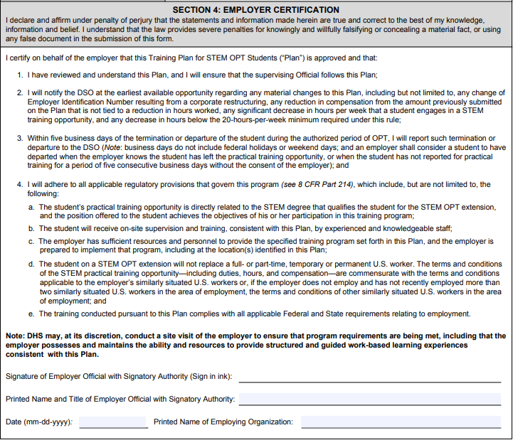 A Guide for Completing Form I-983 for STEM OPT Students