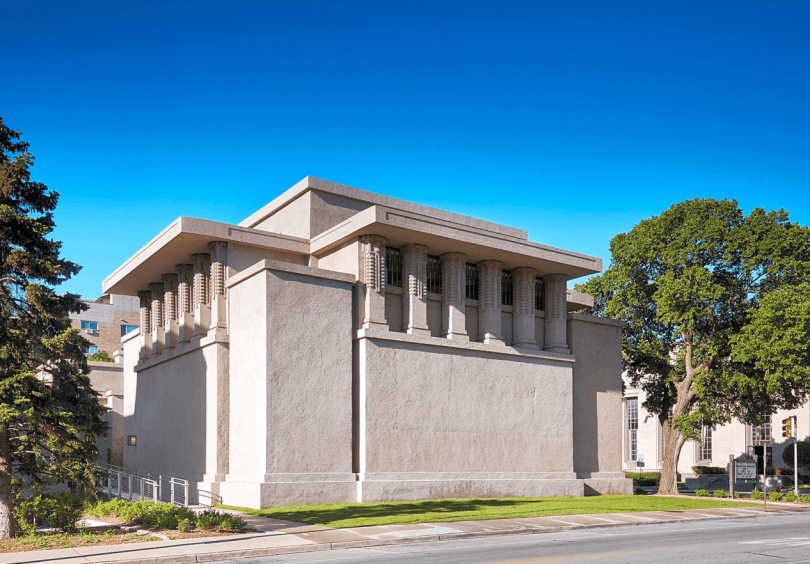 Frank Lloyd Wright-Designed Temple