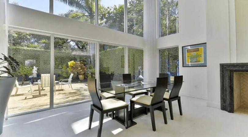 glass house dining room